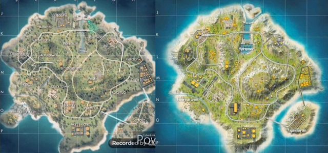 Free Fire Bermuda 2.0 Vs Bermuda Old Map
