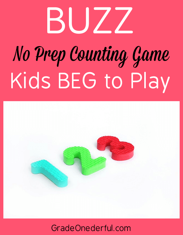 Fun K-2 math game to practice rote counting skills. You'll get directions and tips for the best math game ever!