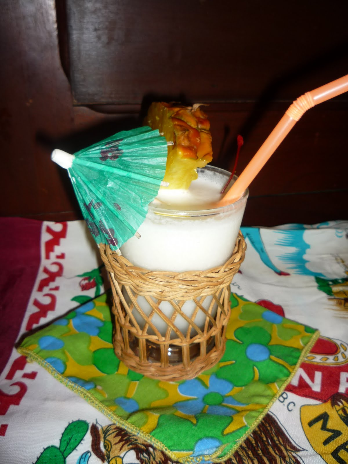 Carried Away With Vintage Gourmet Pina Colada With