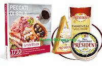 Logo Con i Formaggi Président vinci cofanetti Smartbox ,serate degustazione e scarica il buono sconto