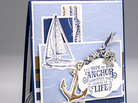 Let Hope be Your Anchor through the Storms of Life:  Sailing Home Card by Rick Adkins