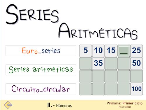 Series aritméticas. Macroaplicación.