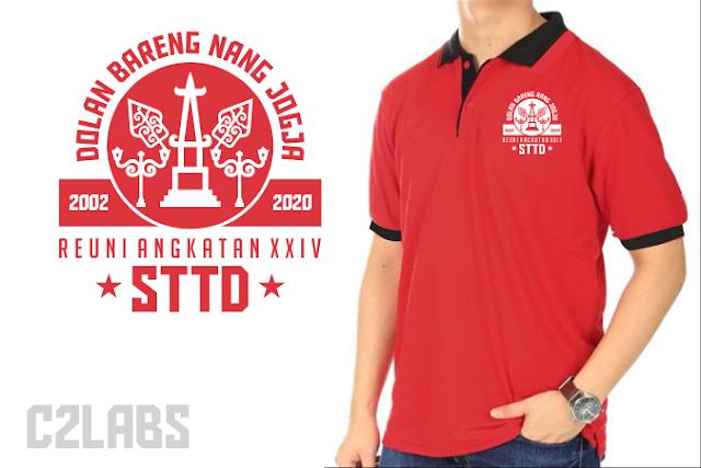 Polo Reuni Shirt Wangki Bordir Komputer Dolan Nang Jogja 2020