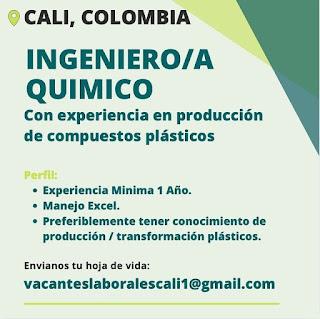 📂 Empleos en Cali Hoy como Ingeniero Quimico 💼 |▷ #Cali #SiHayEmpleo #Empleo