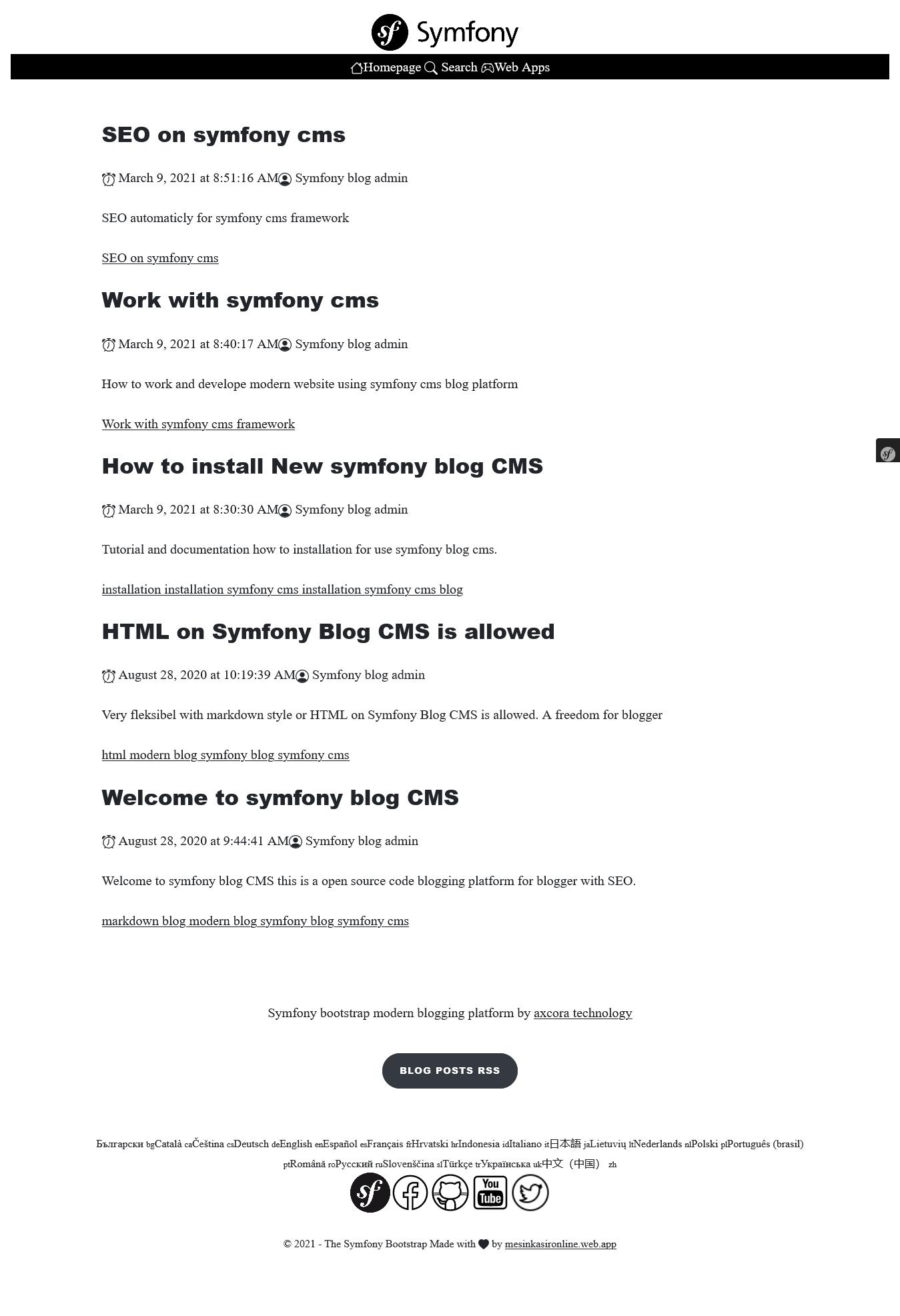 symfony cms source code free download gratis