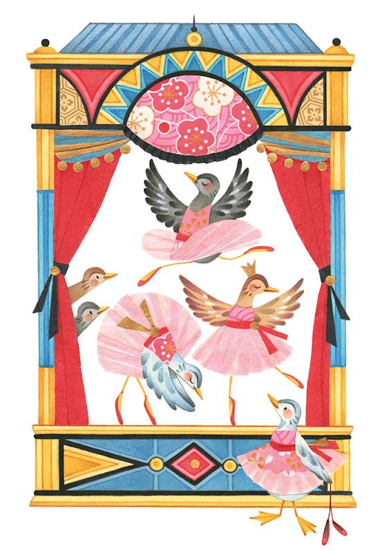 Collage Duck children's illustration theater