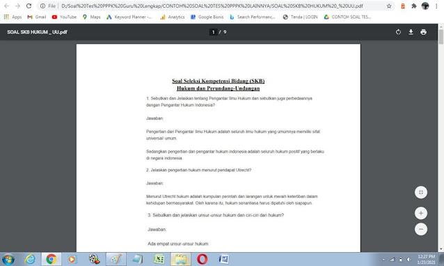 Contoh soal tes P3K Hukum dan Perundang-undangan dengan Kunci Jawaban
