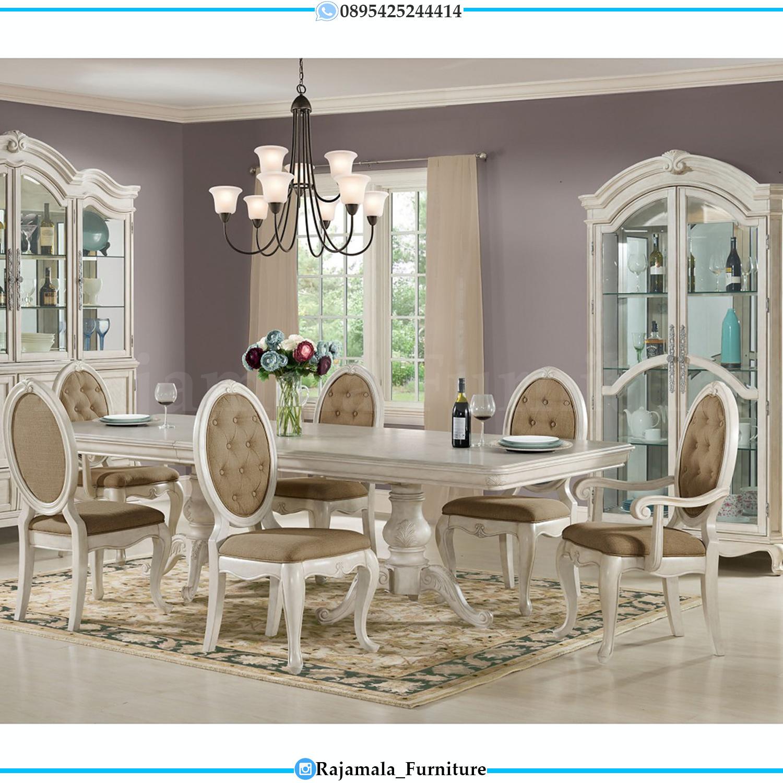 Desain Meja Makan Mewah Minimalis Classic Art Deco Luxury Jepara RM-0124