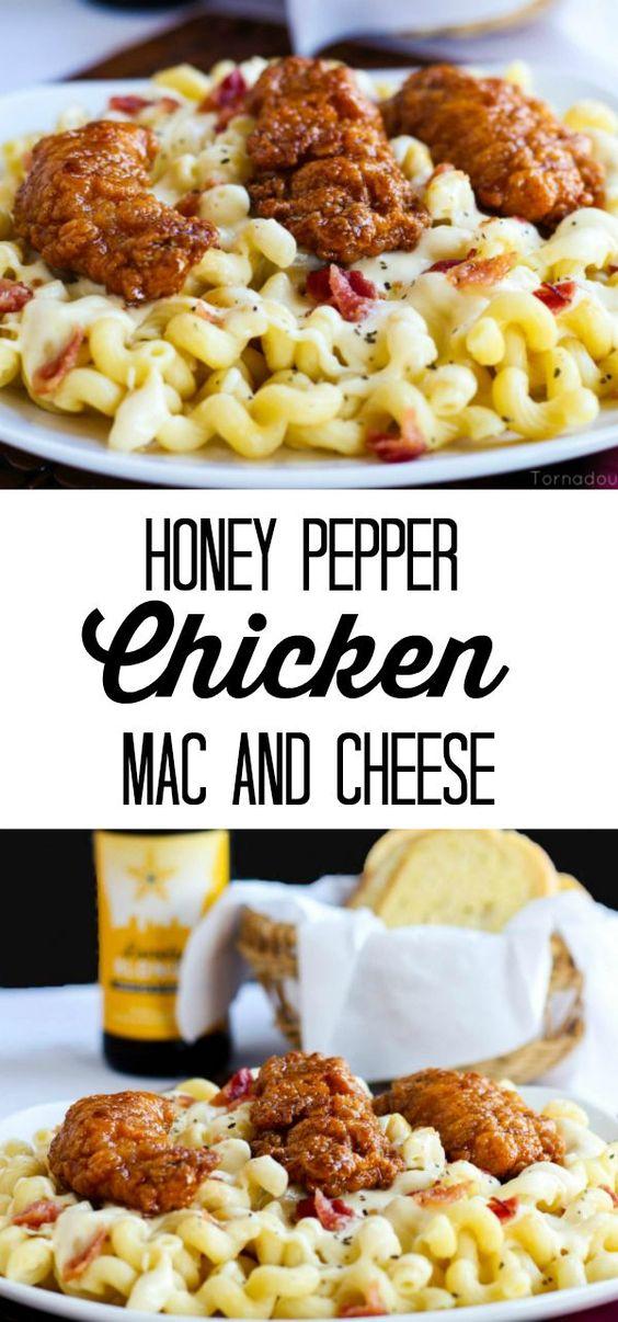 HONEY PEPPER CHICKEN MAC AND CHEESE #HONEY #PEPPER #CHICKEN #MAC #CHEESE #HONEY #PEPPER #CHICKEN #MAC #CHEESE