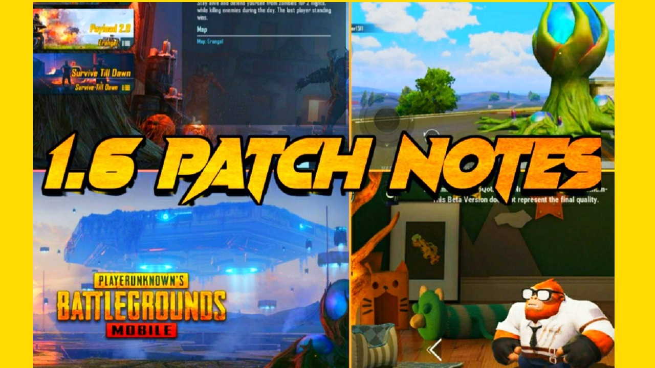 PUBG Mobile 1.6 update patch notes 09 September, 2021