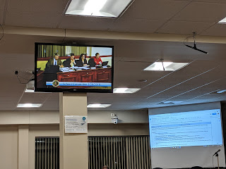 view from the back of the room at the May 28 School Committee meeting