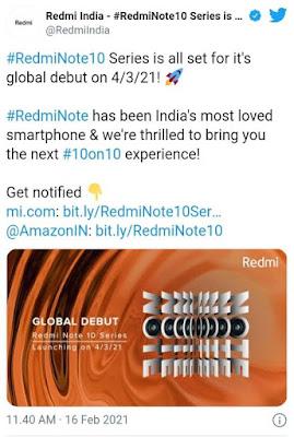 tweet dari akun @redmiindia