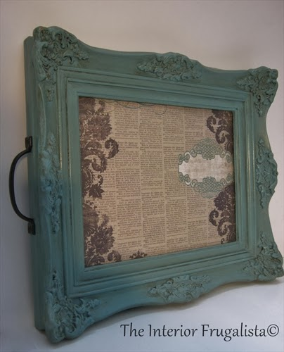 Picture Frame Transformed Into A Tray