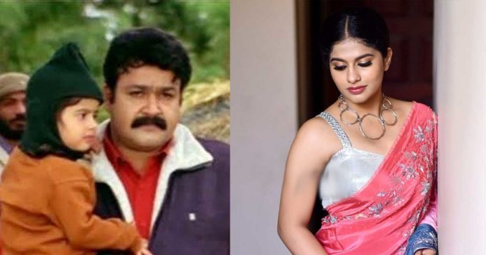 Mohanlal's take on Tinkumol cell phone Baby Nayanthara in Glamor role,www.thekeralatimes.com