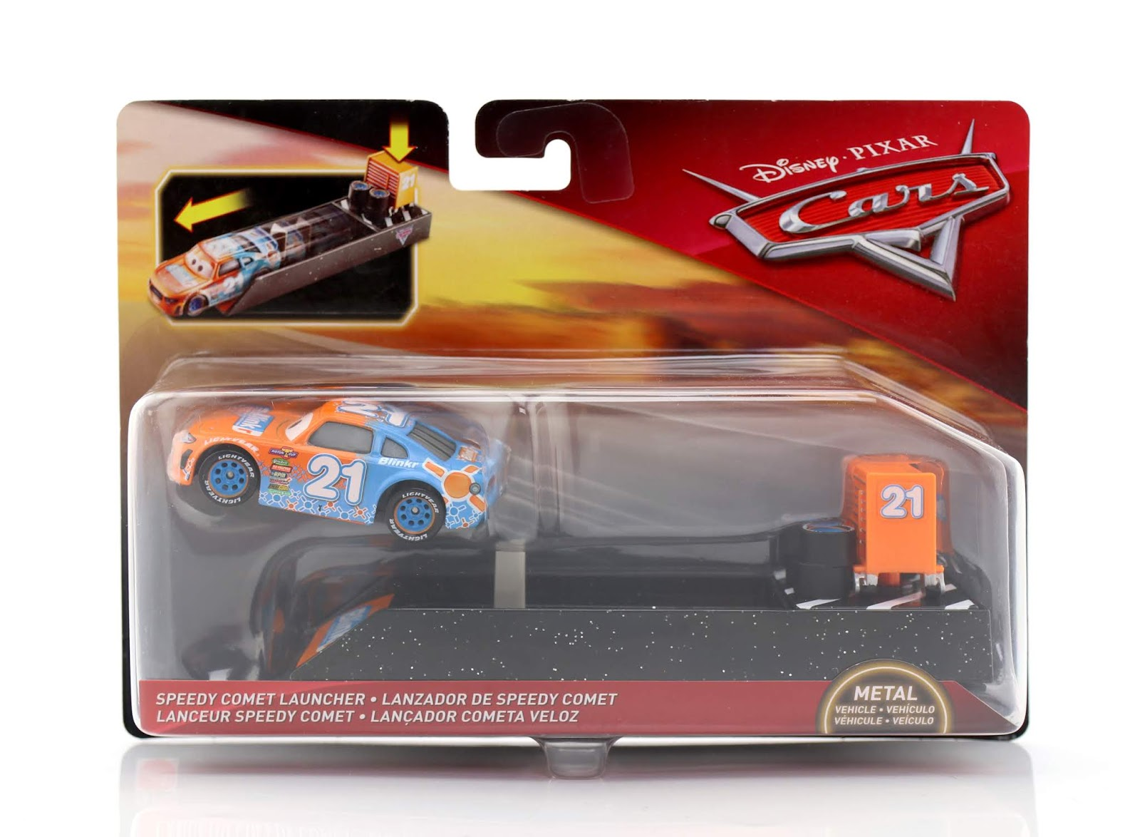 Cars 3 Speedy Comet (with Launcher) diecast