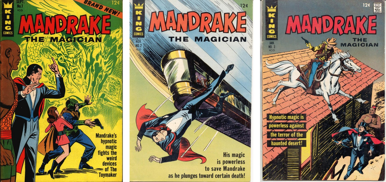 Old Comics world: Mandrake the Magician 01 - 10 (1966-67) - King
