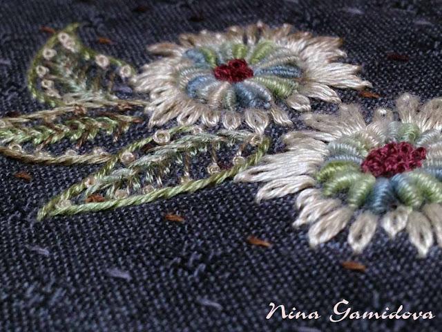 вышивка декоративными швами