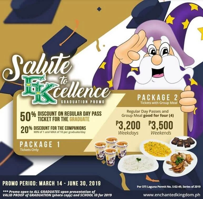 Enchanted Kingdom Announces Special Promo for This Year's Graduates
