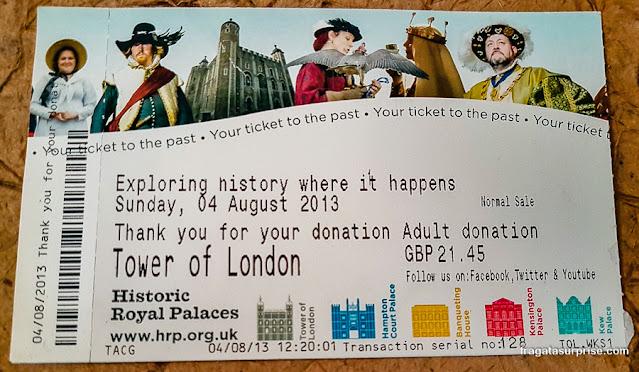 Ingresso para a Torre de Londres