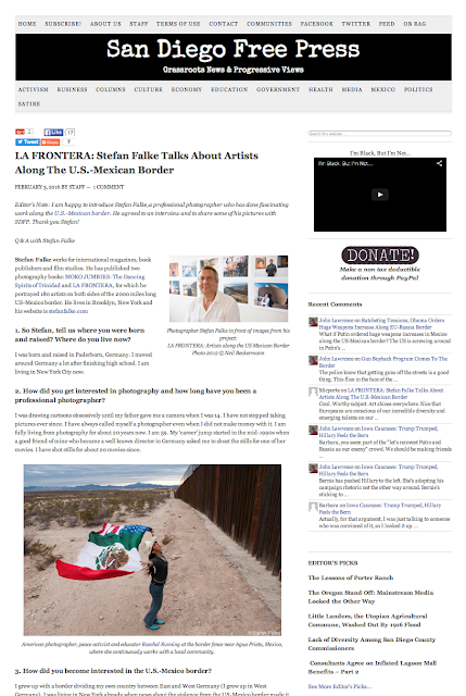 La Frontera in Sand Diego Free Press interview