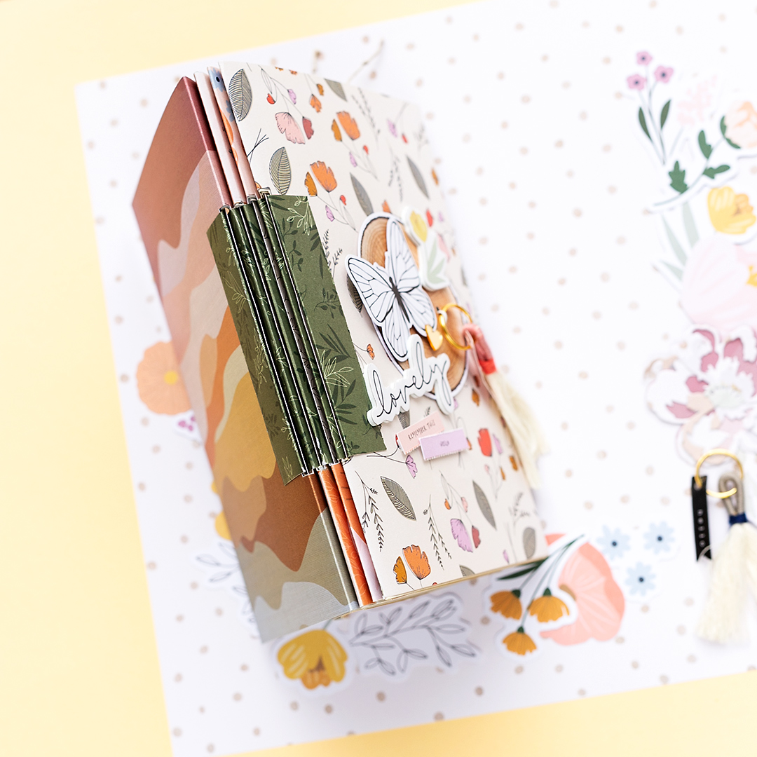 American Crafts No Glue Bookbinding Mini Album Jen Hadfield Peaceful Heart