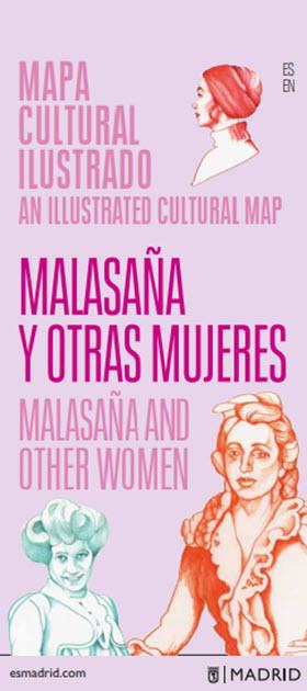 'Mapa Cultural Ilustrado Malasaña y otras mujeres': las mujeres ilustres que vivieron en el barrio