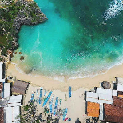pantai ngandong drone
