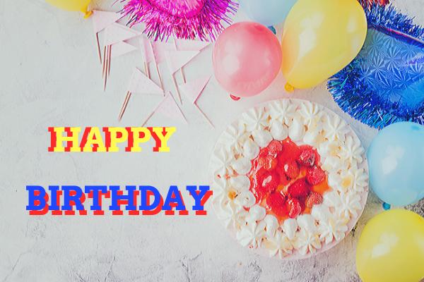 Happy Birthday Image with Balloon