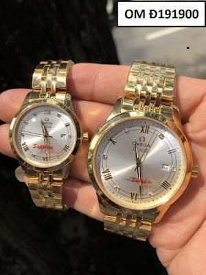 Đồng hồ cặp đôi màu vàng Omega OM Đ191900