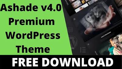 Download Free Ashade v4.0 – Photography WordPress Theme