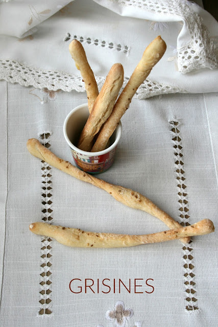 grisines,palitos de pan