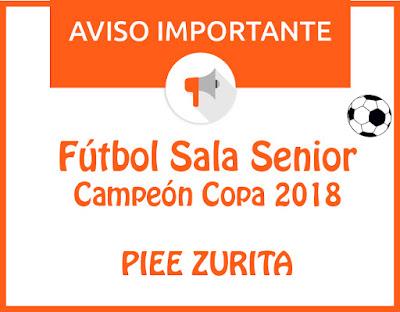 FÚTBOL SALA SENIOR: CAMPEONES COPA 2017-2018