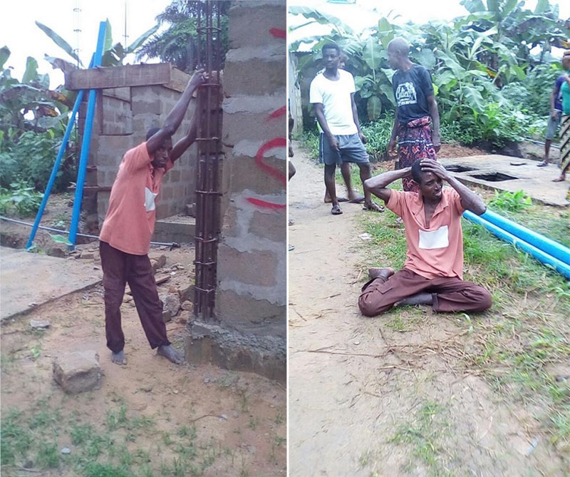Man reportedly gets stuck while stealing from construction site in Akwa Ibom
