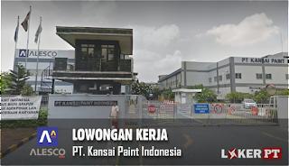 Lowongan Kerja PT. Kansai Paint Indonesia (Alesco)