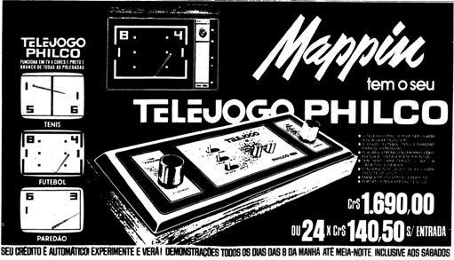 Propaganda antiga do Mappin em 1978 promovendo o Telejogo lançado pela Philco