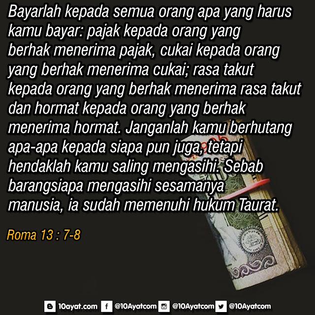 Roma 13 : 7-8