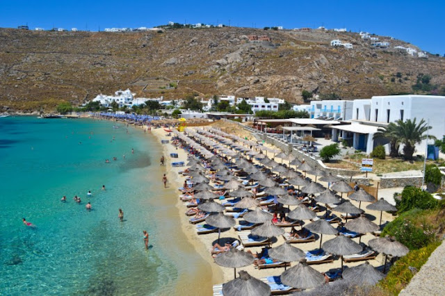 Paradise Beach, Mykonos, Yunani
