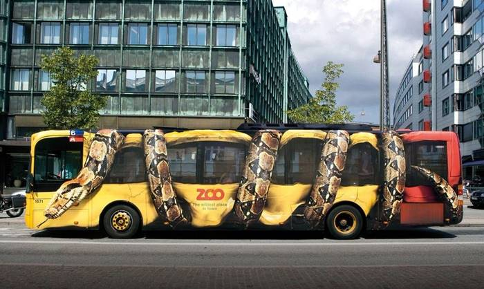 Part of a zoo advertising company in Copenhagen, Denmark