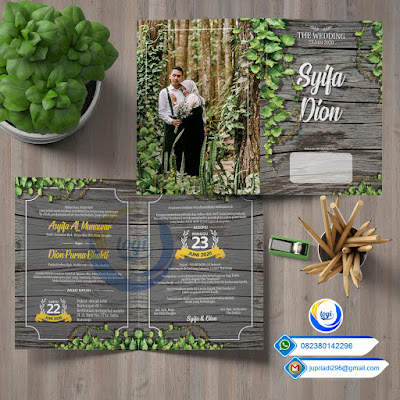 Download Template Desain Undangan Pernikahan Custome Elegan Cdr
