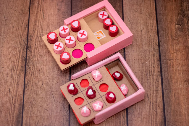 How to Make a Valentine's Tic-Tac-Toe Set