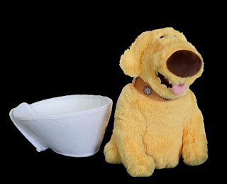 disney pixar up dug with cone of shame plush