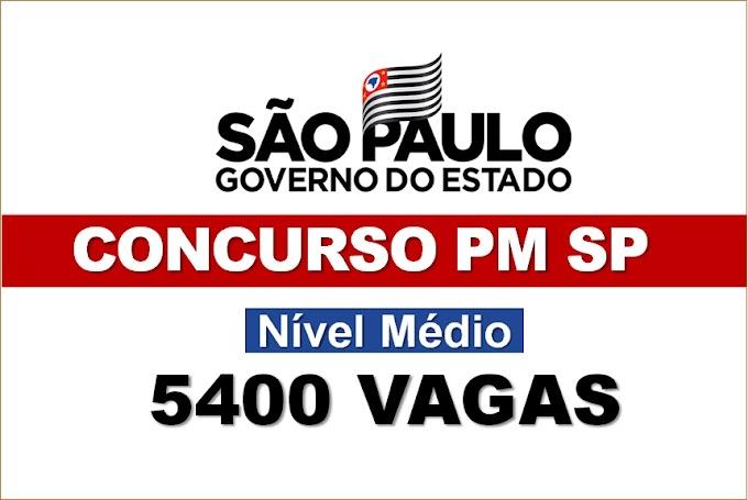 Concurso PM SP: confirmado pedido para mais 5.400 vagas com salário de R$ 3.164,58. Saiba Mais