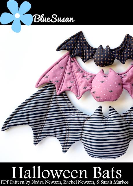 Halloween Bat sewing pattern cover PDF