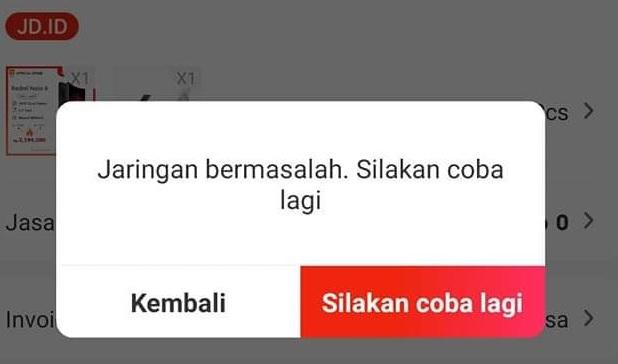 Cara Mengatasi Jd Id Tidak Bisa Checkout Karena Jaringan Bermasalah Kepoindonesia