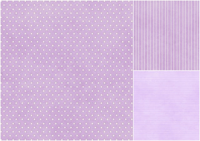 Papers in Lilac of the Easter Cuties Clip Art.