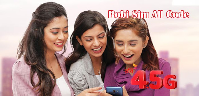 Robi Sim All Code Like Minute Internet recharge offer