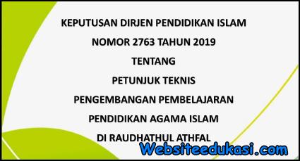 Juknis Pengembangan Pembelajaran PAI RA 2019