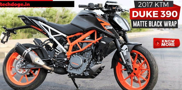 2017 ktm duke in whole black