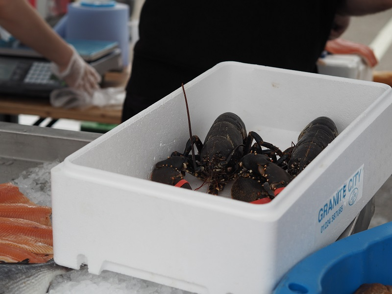 Lobster on a seafood stall