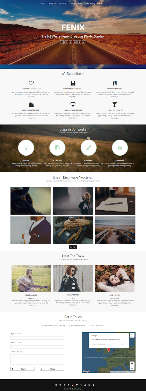 Fenix Creative Blogger Template